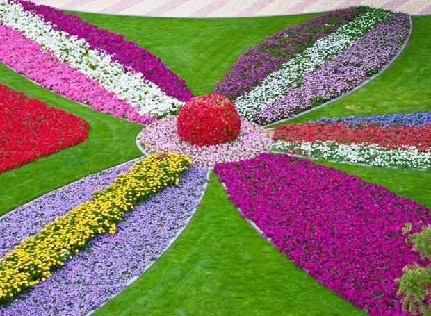 Jardim Mais Florido Do Mundo Fica Em Dubai ~ Fotos De Um Jardim Florido